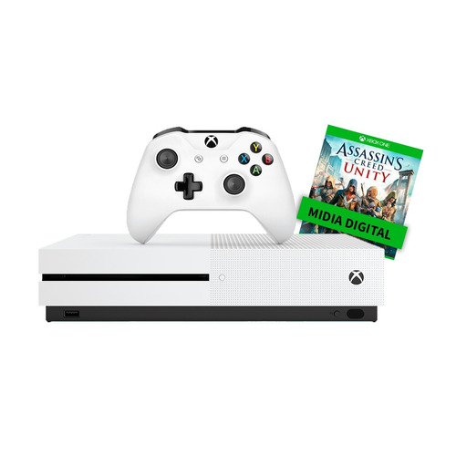 xbox one 500 gb 4k (recon) 1 controle +1 jogo