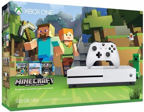 xbox one blanca 500gb minecraft consola envio gratis dhl