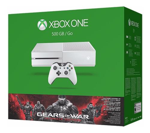 xbox one consola 500 gb blanco  videojuego gears of war