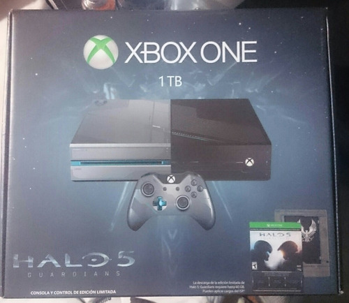 xbox one edición limitada 1t halo 5 guardians
