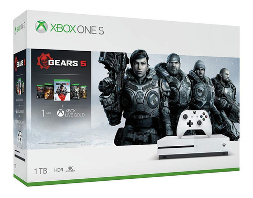 xbox one s 1000gb consola 4k+ juego gears of war1-5