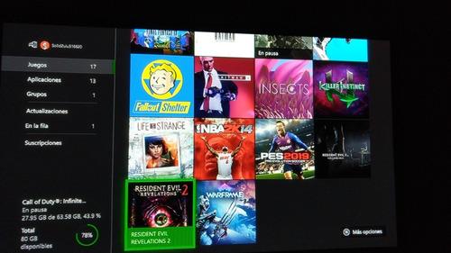 xbox one s +16 juegos + kit carga y juega como nuevo