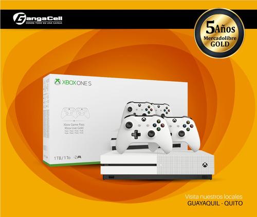 xbox one s 1tb 4k con dos controles inalámbricos m1681