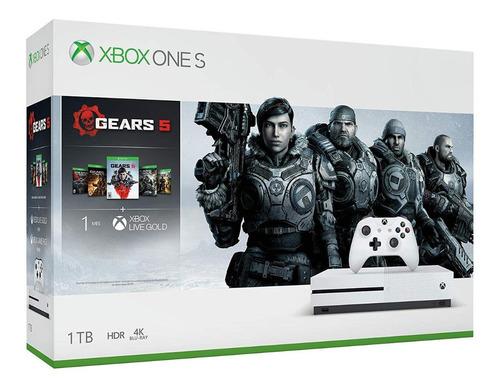 xbox one s 1tb 4k juegos digital, edicion gears of wars