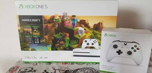 xbox one s  1tb + minecraft creators 2 controles nuevo caja