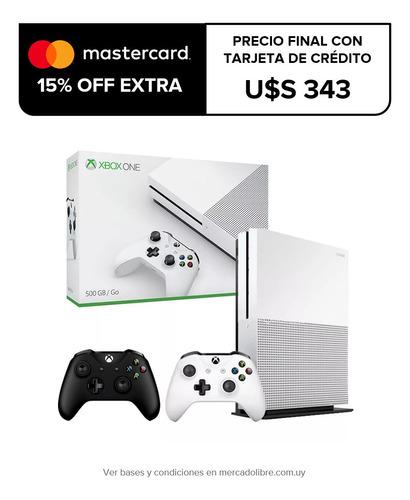 xbox one s 500gb refurbished + 2 joysticks macrotec