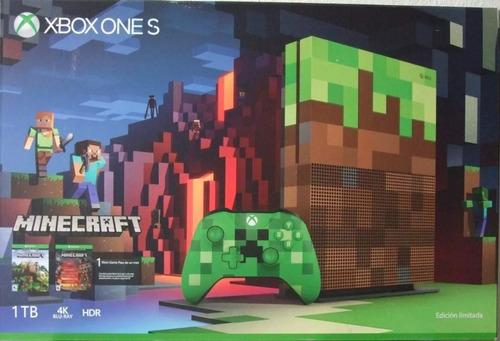 xbox one s edicion limitada especial minecraft 1 tb sellada