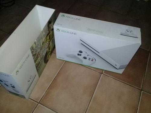 xbox one s permuto 500gb 1 joy completa en caja sin juegos