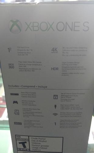 xbox one s sea of thieves consola  1tb 4k bundle + garantia