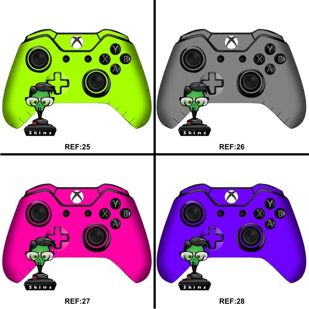Kit 2 Skin Controle Xbox One Texturas Filmes Desenho 1 R