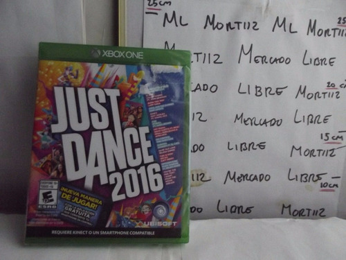 xbox one video juego just dance 2016 fisico