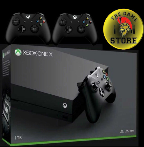 xbox one x 1 tb 4k + 2 joystick - the game store