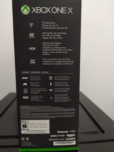 xbox one x 1tb 4k edicion fallout 76 bundle completo