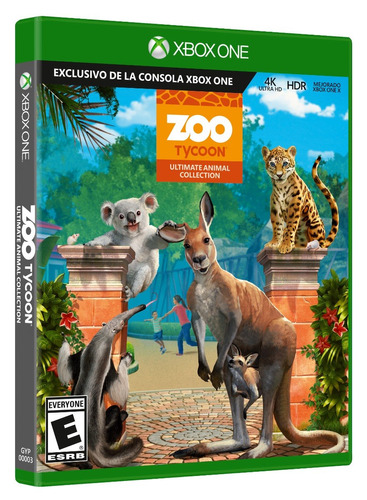 xbox one zoo tycoon: ultimate animal 4k nuevo y sellado