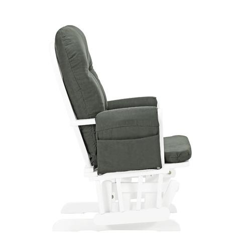 xbox sillon silla mecedora con descansa pies gris con blanco
