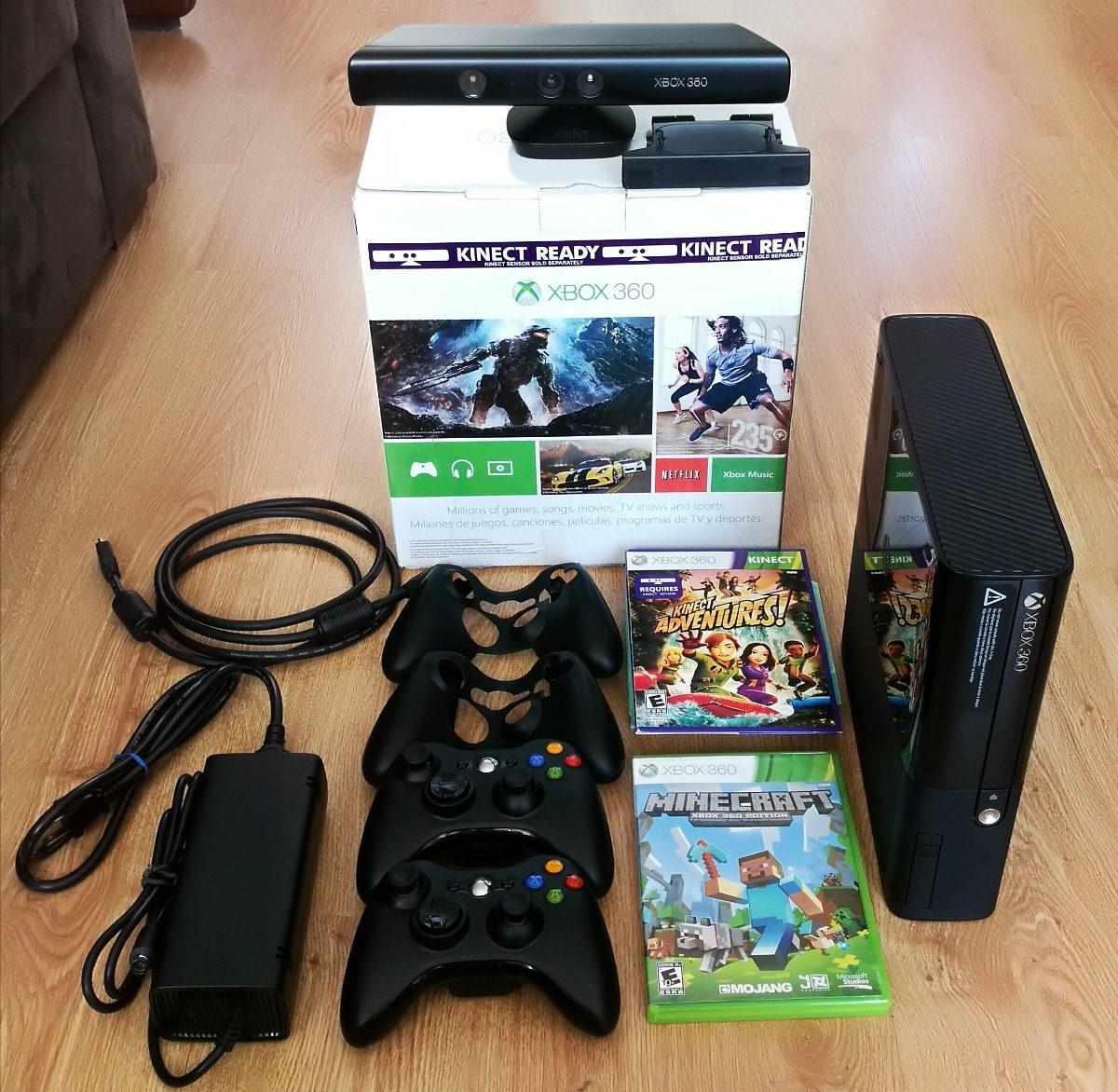 Xbox360 Como Nuevo Con 500gb Kinect 2 Controles 88 Juegos