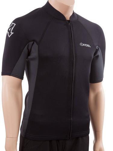 xcel axis - chaqueta corta para traje de mangas cortas front