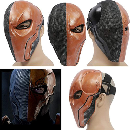 xcoser deathstroke mask helmet orange v5