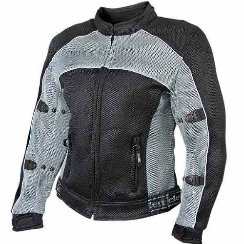 xelement cf507 chaqueta de malla negra y gris para mujer con