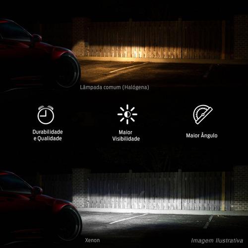 xenon lampada reator h27 6000k carro luz farol milha tuning