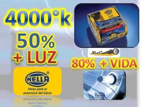 xenon premium h1 y h3 4000°k hella mas y mejor luz + regalos