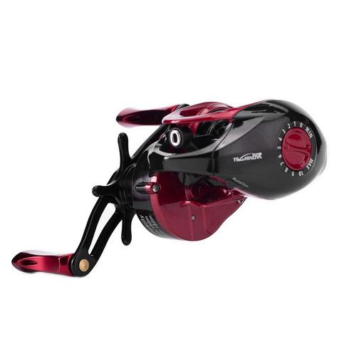 xf-150 derecho mano metal profundo carrete 9 + 1bb rojo pesc