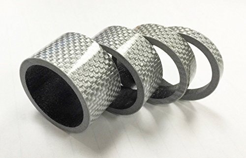 xh® 4pcs bicicleta carbono auricular separador de fibra de