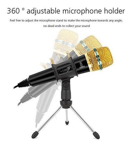 xiaokoa profesión pc micrófono, micrófono de grabación micr