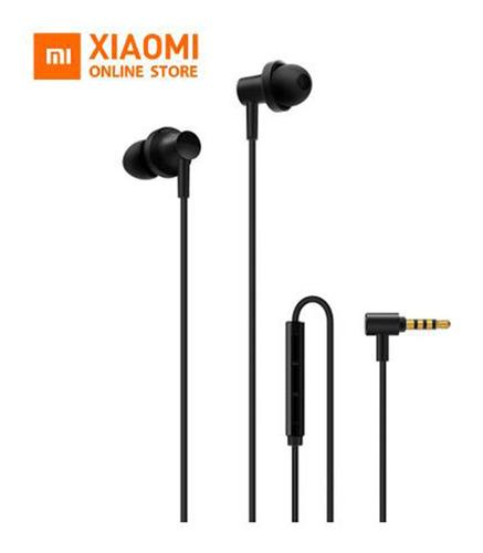 xiaomi hybrid earphones 2 horn en forma de l negro