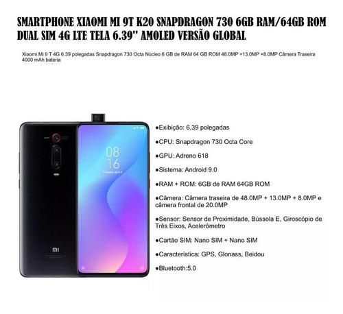 xiaomi mi 9t 64gb 6gb snapdragon 730 global