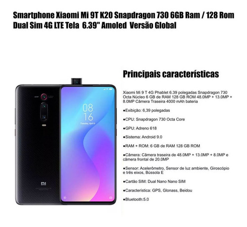 xiaomi mi 9t 6gb/128gb snapdragon 730 global