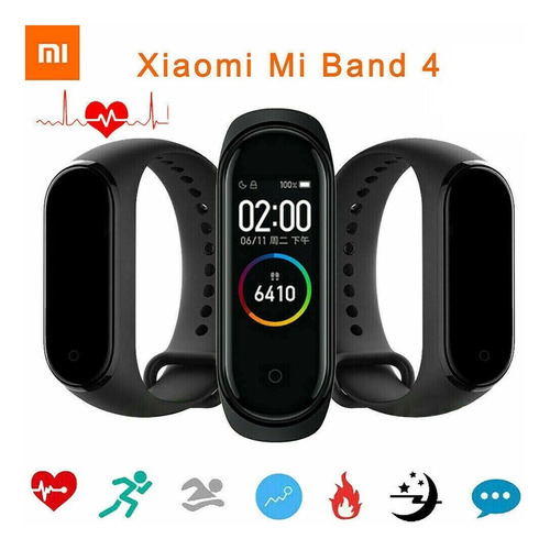 xiaomi mi band 4 pulsera inteligente original - black