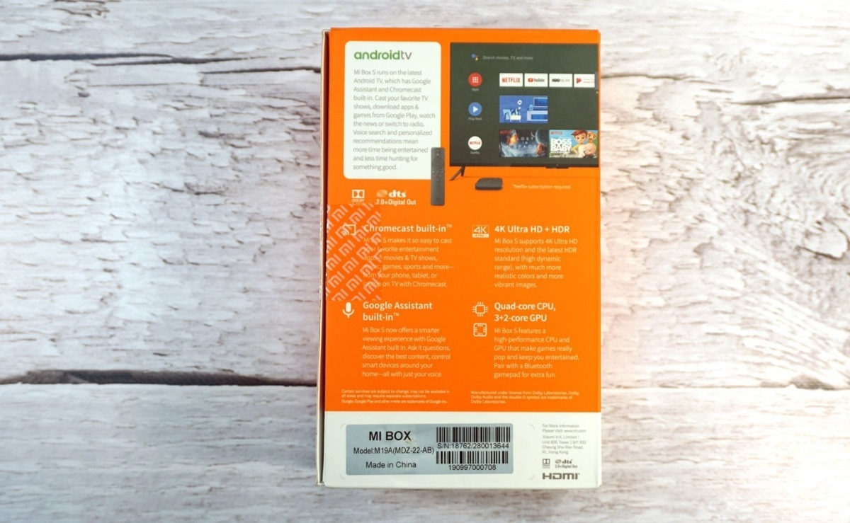 Xiaomi Mi Box S 4k Hdr Android Tv 8 0 & Googlecast Mdz-22-ab