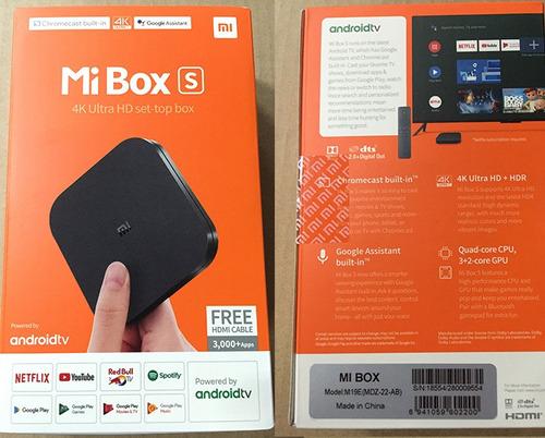 xiaomi mi box s android tv  netflix y youtube 4k chromecast