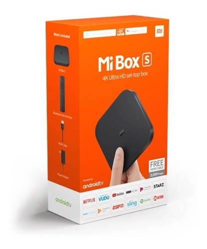 xiaomi mi box s / chromecast integrado / streaming ultra hd