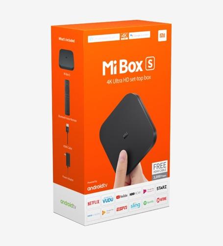 xiaomi mi box s tv box 4k + control assistant