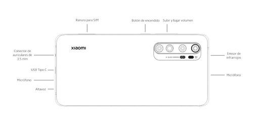 xiaomi mi note 10 lite 128gb 6gb + funda 12ctas- phone store