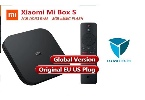 xiaomi mi tv box s 4k ram 8 netflix control remoto c/voz
