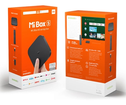 xiaomi mibox s, tv box, netflix movistar play youtube 4k hdr