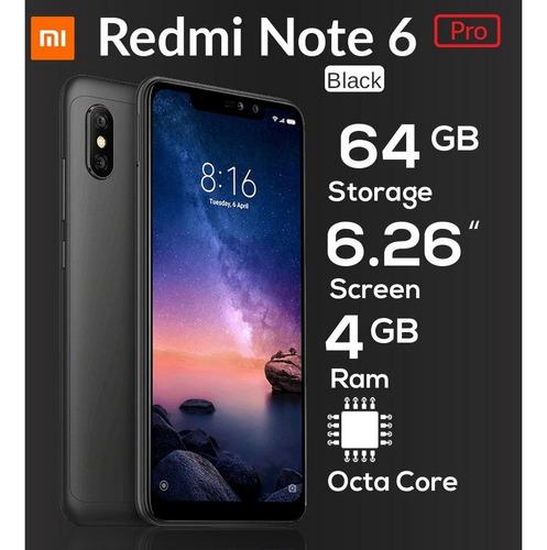 xiaomi note 6 pro 64 gb+4 ram 4000mah dual sim doble camara