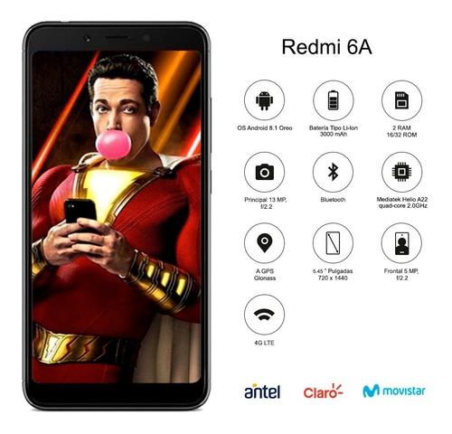 xiaomi redmi 6a 5.45´ 16 /2gb dual sim desbloqueo facial p m