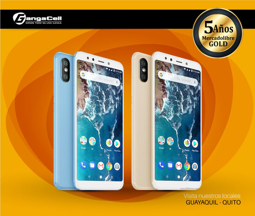 xiaomi redmi mi a2 4gb+32gb 20+12mp, lector huellas