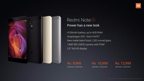 xiaomi redmi note 4 4gb 64gb global+caja+sellada+glass