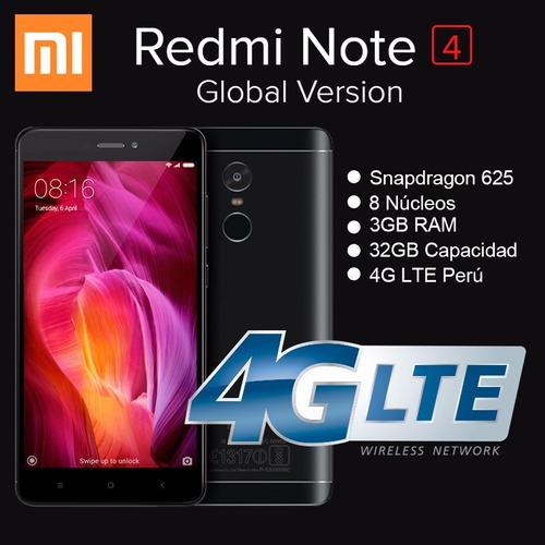 xiaomi redmi note 4 global - 4g lte, 3gb/32gb - chiss store
