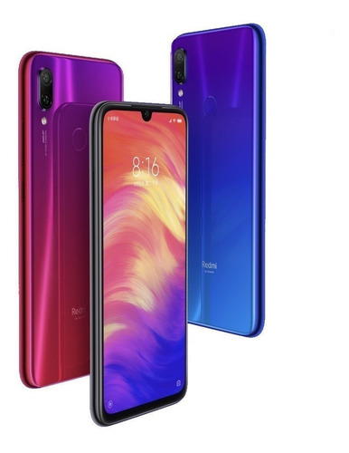 xiaomi redmi note 7 4gb 64gb cam 48mp snap 660 funda + gtia