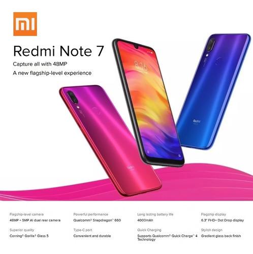 xiaomi redmi note 7 telfono mvil 6.3 pantalla 6gb ram 64
