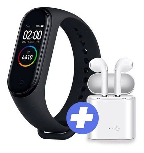 xiaomi smartband mi band 4 ideal para agua y fitness + auris