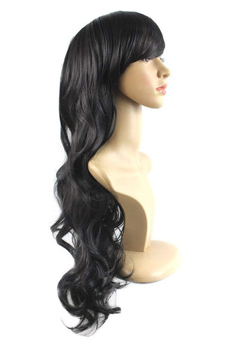 xiaoyu 28 70cm oblique bangs natural synthetic female lon...