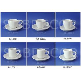 Xícara De Café Com Pires - Porcelana Branca - Cx 50 Unids
