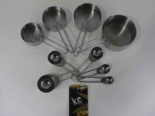 xícaras colheres medidoras